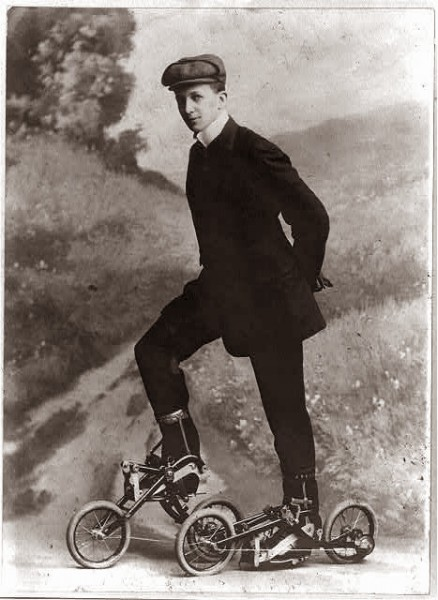 The legendary foot cyclist Erasmus Whipple, was disqualified for not having a moustache.
